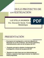 presentación Modulo proyecto de investigación