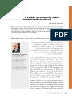 A bioética e a revisão dos códigos de conduta moral dos médicos no Brasil