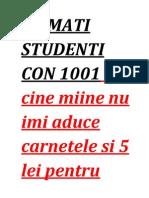 Stimati Studenti Con 1001