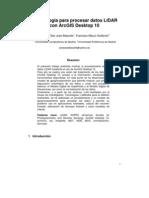 1.Metodología para procesar datos LiDAR con ArcGIS 10