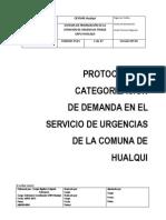 SISTEMA DE PRIORIZACIÓN DE LA ATENCIÓN DE URGENCIAS TRIAGE SAPU HUALQUI_2013