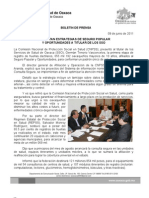 09/06/11 Germán Tenorio Vasconcelos presentan Estrategias de Seguro Popular y Oportunidades a Titular de Los Sso