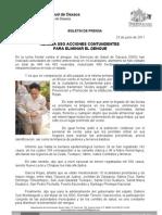 23/06/11 Germán Tenorio Vasconcelos realiza Sso Acciones Contundentes Para Eliminar El Dengue