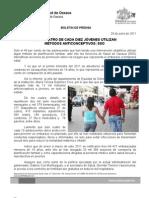 29/06/11 Germán Tenorio Vasconcelos SOLO 4 DE CADA 10 JÓVENES UTILIZAN MÉTODOS ANTICONCEPTIVOS