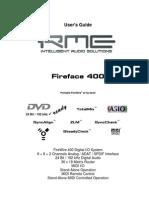 RME FireFace 400 Manual (English)