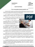 11/07/11 Germán Tenorio Vasconcelos MÁS DE 27 MIL OAXAQUEÑOS PADECEN DIABETES, SSO