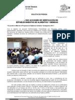 17/07/11 Germán Tenorio Vasconcelos REDOBLA SSO ACCIONES DE VERIFICACIÓN EN ESTABLECIMIENTOS DE ALIMENTOS Y BEBIDAS