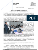 22/07/11 Germán Tenorio Vasconcelos Imparte SSO Talleres de Comités de Investigación y Hospitalarios de Bioética