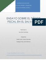 Ensayo sobre El déficit fiscal en El Salvador