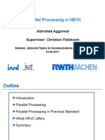 Parallel Procvcvcessing in HEVC