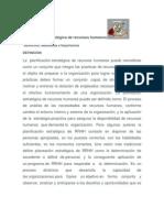 Planificación estratégica de recursos humanos para el socio drama de Manuela
