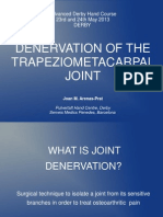 Denervation of the trapeziometacarpal joint