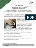 10/08/11 Germán Tenorio Vasconcelos CELEBRÓ HOSPITAL DE IXTLÁN 10 AÑOS AL SERVICIO DE LA POBLACIÓN
