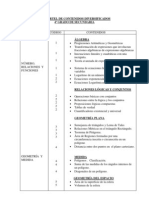 CARTEL DE CONTENIDOS DIVERSIFICADOS de matemat-4º