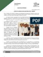 19/08/11 Germán Tenorio Vasconcelos nombra NUEVO JEFE EN JURISDICCIÓN SANITARIA SEIS, SIERRA