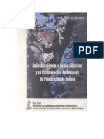 Evaluacion de La Fauna Silvestre y Su Conservacion en Bos