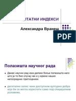 Citiranje Indeks Master 2012