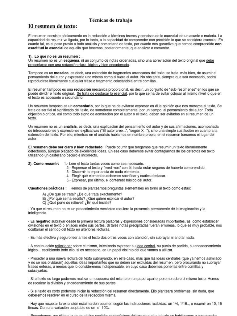 Asombroso Resumen De Resumen Efectivo Colección - Ejemplo De ...