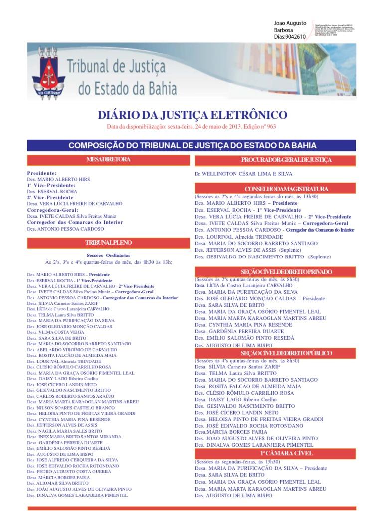 223bbfa213156 Conjunto completo de publicações da Justiça Baiana de 24 de maio