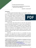 El complejo agroindustrial tabacalero. Un análisis sobre las transformaciones socioproductivas en las provincias argentinas de Jujuy y Misiones. Daniel RE, Carolina DIEZ. ALASRU 2010