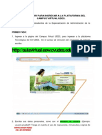 Instructivo Para El Ingreso a La Plataforma Udes en Convenio Con English Easy Way