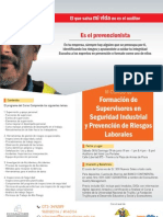 Afiche III Curso Supervisor en Seguridad Industrial y Prevención de Riesgos