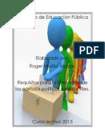 Proceso de inscripción de partidos políticos.