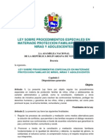 29. Ley Sobre Procedimientos Especiales en Materiade Protección Familiar de Niños, Niñas y Adolescentes