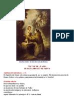 Misa San Antonio de Padua