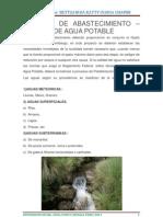 FUENTES de ABASTECIMIENTO - Diferencias Entre Agua Subterranea y Superficiales