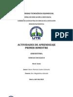 Actividad de Aprendizaje Primer Bimestre Ccss II