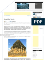 Konark Sun Temple _ Unexplained Things Are Out There.