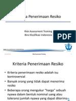 Ch.7. Kriteria Penerimaan Resiko