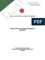 National Plan for Disaster Management 2008, Bangladesh