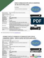 Lista de Precios Camaras y Dvr Zmodo 20-05-2013