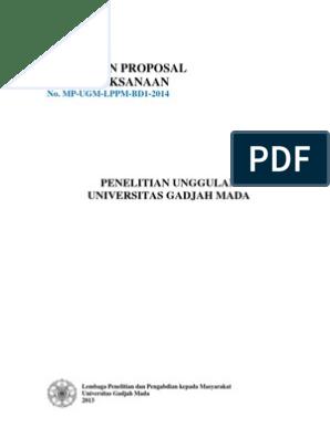 1 Pedoman Penulisan Proposal Pu Ugm