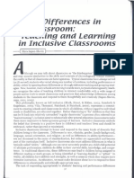 Ability Differences in the Classroom