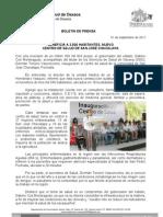 01/09/11 Germán Tenorio Vasconcelos BENEFICIA A 3,500 HABS CENTRO DE SALUD DE SAN JOSÉ CHACALAPA