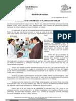 02/09/11 Germán Tenorio Vasconcelos ofrece Sso Otb Como Metodo de Planificacion Familiar