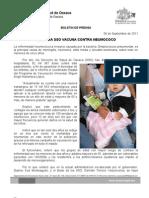 06/09/11 Germán Tenorio Vasconcelos asegura Sso Vacuna Contra Neumococo