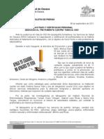08/09/11 Germán Tenorio Vasconcelos capacitado y Certificado Personal Dedicado Al Tratamiento Contra Tabaco, Sso