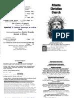 April 21, 2013 Church Bulletin