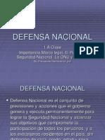 1ª CLASE. IMPORTANCIA DEL CURSO DE DEFENSA NACIONAL
