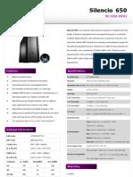 Product Sheet - Silencio 650