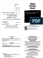 May 26, 2013 Church Bulletin
