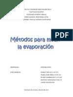 Metodos Para Medir Evaporacion