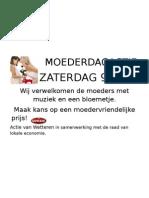 MOEDERDAGACTIE affiche2009