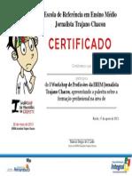 Certificado I WorkshopDeProfissoesEREMTC1.1