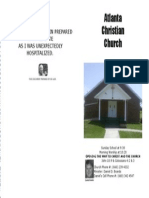May 19, 2013 Church Bulletin