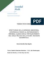 EFECTIVIDAD DE LA GIMNASIA ABDOMINAL HIPOPRESIVA FRENTE AL ENTRENAMIENTO PERINEAL CLÁSICO